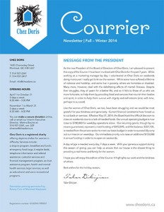 Chez Doris Newsletter Fall 2014